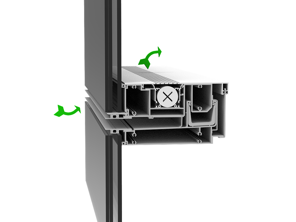 三腔体幕墙通风器6086M